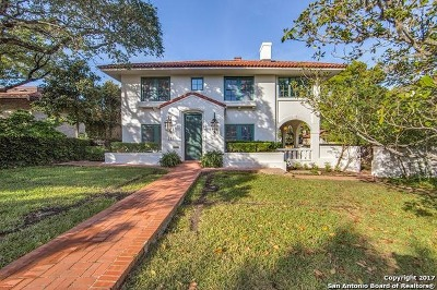 Alamo Heights Single Family Home For Sale: 219 Argyle Ave