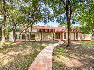 San Antonio Single Family Home For Sale: 1347 Lockhill Selma Rd