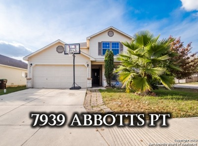 San Antonio Single Family Home Price Change: 7939 Abbotts Pointe