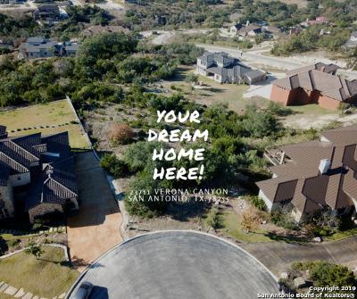 San Antonio Residential Lots & Land New: 23711 Verona Canyon