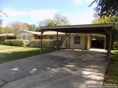 San Antonio Single Family Home Price Change: 126 Berwick Dr