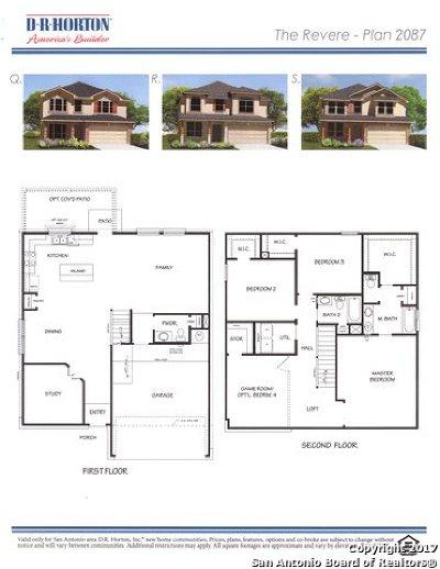 San Antonio TX Single Family Home New: $253,552