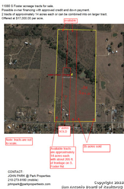 San Antonio Residential Lots & Land New: 11080 S Foster Rd