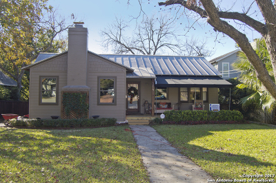 Alamo Heights Single Family Home For Sale: 304 Albany St