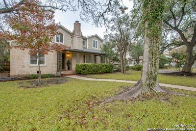 Alamo Heights Single Family Home For Sale: 129 E Elmview Pl