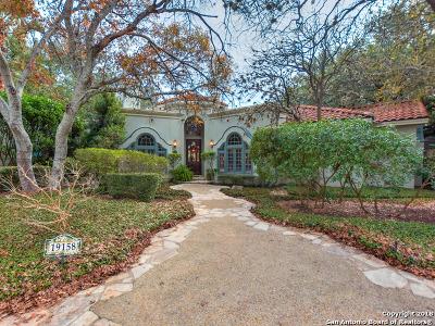 San Antonio Single Family Home For Sale: 19158 Kristen Way