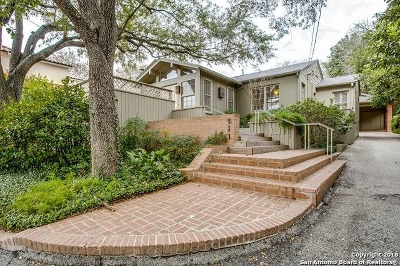 Alamo Heights Single Family Home For Sale: 511 Alta Ave