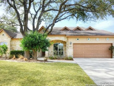 Boerne Single Family Home For Sale: 220 Leather Leaf