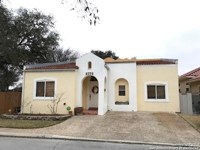 San Antonio Single Family Home New: 2772 Del Pilar Drive