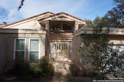 San Antonio Single Family Home For Sale: 11826 Mission Trace St