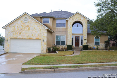Helotes Single Family Home Price Change: 8619 Mantano Rdg
