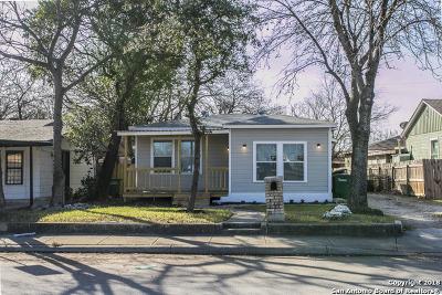San Antonio Single Family Home Back on Market: 1422 Clower