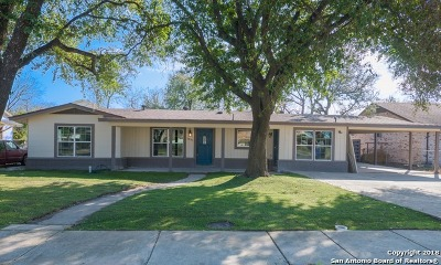 San Antonio Single Family Home Price Change: 1836 W Craig Pl