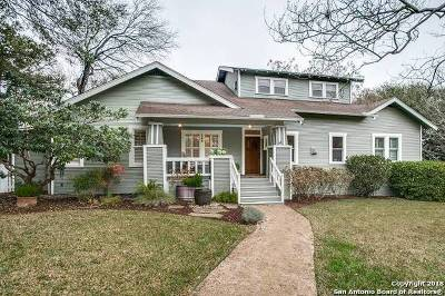 Alamo Heights TX Single Family Home New: $639,000