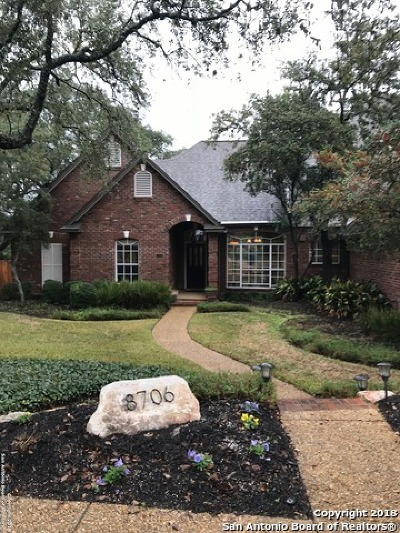 San Antonio Single Family Home New: 8706 Queen Heights