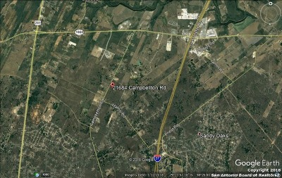 San Antonio Residential Lots & Land For Sale: 21684 Campbellton Rd