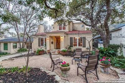 Alamo Heights Single Family Home For Sale: 514 Castano Ave