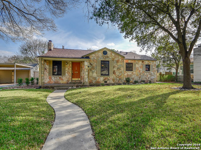Alamo Heights TX Single Family Home For Sale: $550,000