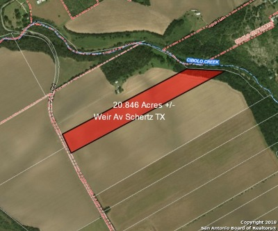 Schertz Farm & Ranch For Sale: 20.84 Acres Weir Rd