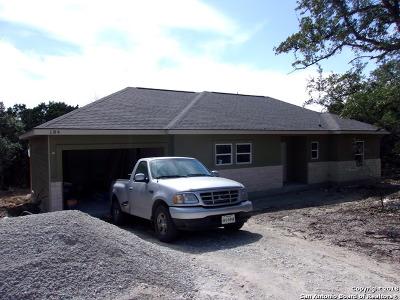 Canyon Lake Single Family Home New: 184 Falcon Ct