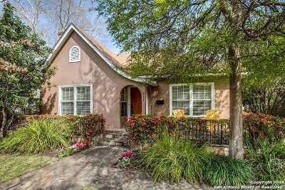 Alamo Heights Single Family Home Price Change: 317 Corona Ave