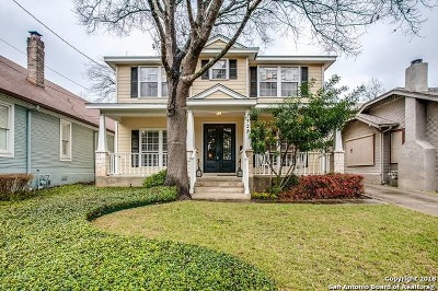 Alamo Heights Single Family Home For Sale: 323 Argo Ave
