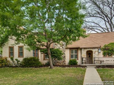 San Antonio Single Family Home For Sale: 117 E Lullwood Ave