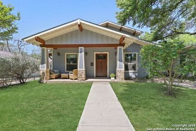 Alamo Heights Single Family Home For Sale: 223 Corona Ave