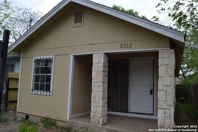 San Antonio Single Family Home Back on Market: 2513 W Poplar St