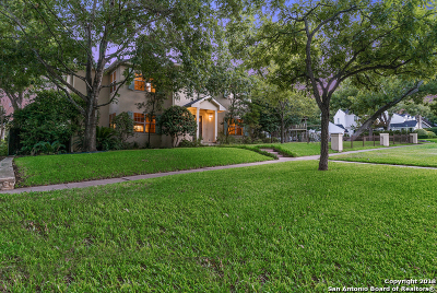 Alamo Heights Single Family Home For Sale: 312 Blue Bonnet Blvd