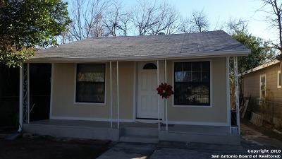San Antonio Single Family Home Price Change: 3204 Vera Cruz