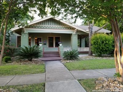 San Antonio Single Family Home New: 1109 W Craig Pl