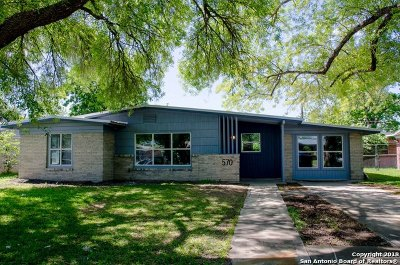 San Antonio Single Family Home New: 570 Radiance Ave