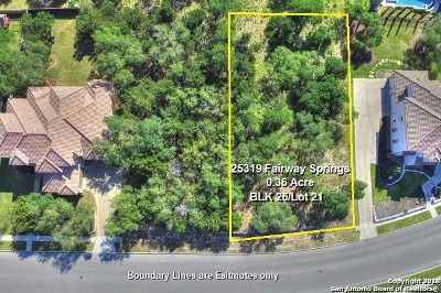 San Antonio Residential Lots & Land For Sale: 25319 Fairway Springs