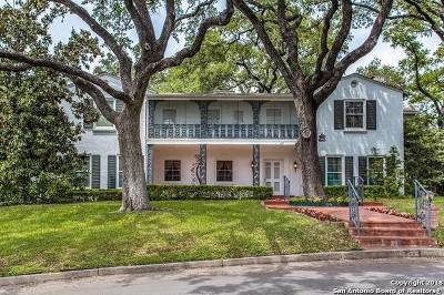 San Antonio Single Family Home Price Change: 247 E Summit Ave
