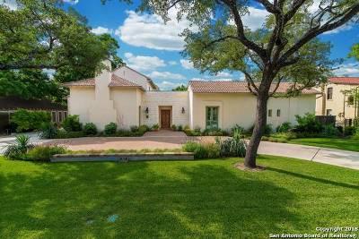 Alamo Heights TX Single Family Home For Sale: $2,295,000