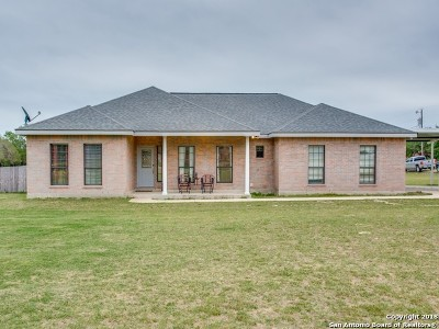 Floresville Single Family Home Price Change: 101 Bear Trace