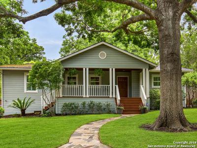 San Antonio Single Family Home For Sale: 834 Wiltshire Ave