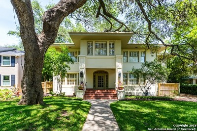 Alamo Heights TX Single Family Home For Sale: $1,895,000