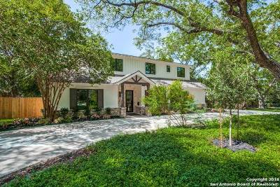 Alamo Heights Single Family Home For Sale: 2210 Camelback Dr