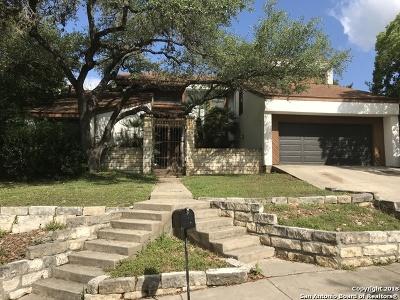San Antonio Single Family Home Price Change: 1123 Sugar Pine St