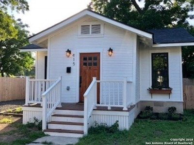 San Antonio Single Family Home New: 415 Margaret St