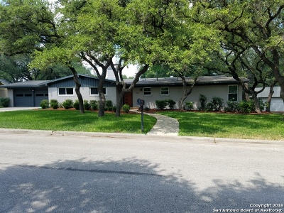 San Antonio Single Family Home New: 8810 Pineridge Rd