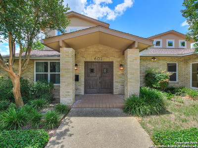 San Antonio Single Family Home For Sale: 602 Morningside Dr