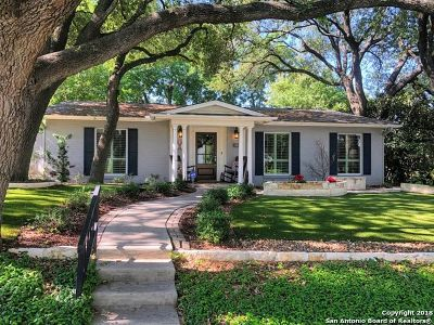 Alamo Heights TX Single Family Home For Sale: $715,999