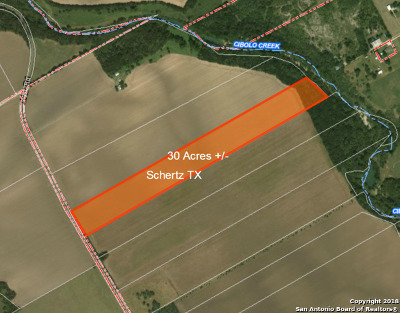 Schertz Residential Lots & Land For Sale: 30 Acres Weir Rd
