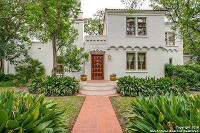 Alamo Heights Single Family Home Price Change: 604 Castano Ave