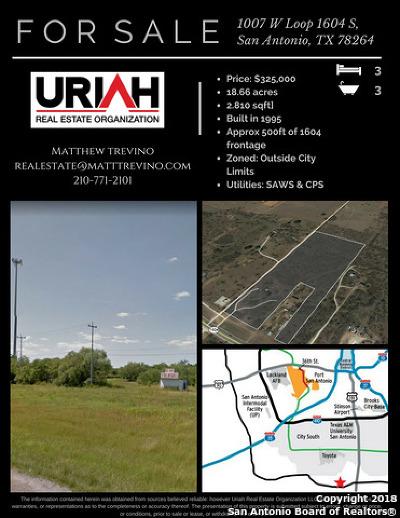 San Antonio Farm & Ranch For Sale: 1007 W Loop 1604 S