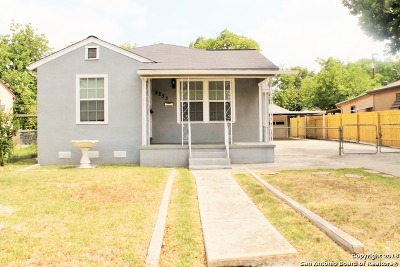 San Antonio Single Family Home Back on Market: 2233 Texas Ave