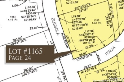 New Braunfels Residential Lots & Land For Sale: Bussola